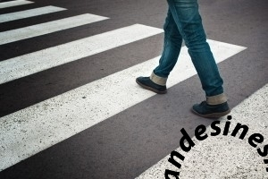 woman crossing street 300x200 - Woman crossing street