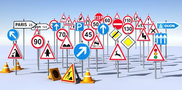 roadsigns2 - طراحی و تولید تابلو های ترافیکی پِلِکسی گلاس