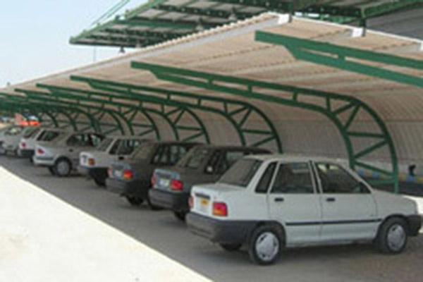 6 696 th2 - اجرای پارکینگ مسقف/سایبان پارکینگ