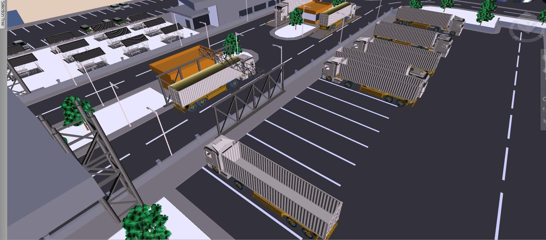 factory design detailed model 3d model dwg - عملیات ترافیکی شهرکی