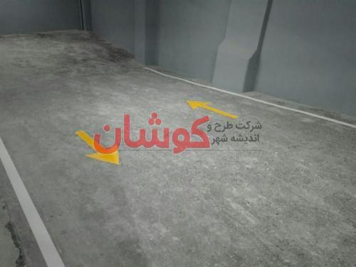 خط کشی پارکینگ 4 طبقه ساختمان اداری زعفرانیه