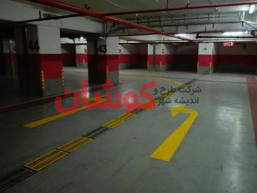 photo ۲۰۱۸ ۰۲ ۱۸ ۱۰ ۰۹ ۱۱ خط کشی پارکینگ VIP برج میلاد تهران توسط تیم کوشان