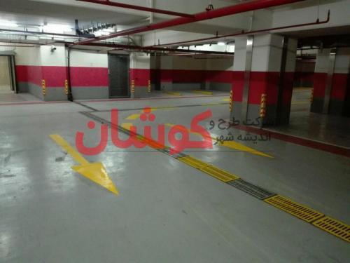 photo ۲۰۱۸ ۰۲ ۱۸ ۱۰ ۰۹ ۳۴ خط کشی پارکینگ VIP برج میلاد تهران توسط تیم کوشان