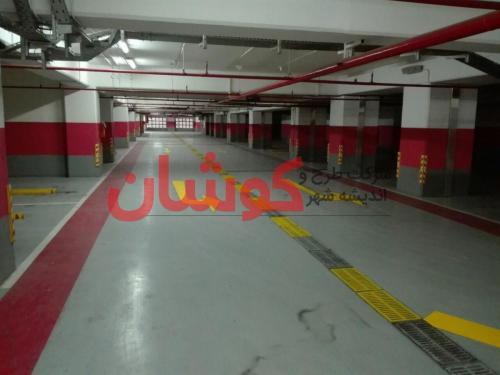 photo ۲۰۱۸ ۰۲ ۱۸ ۱۰ ۰۹ ۱۲ - خط کشی پارکینگ VIP برج میلاد تهران توسط تیم کوشان