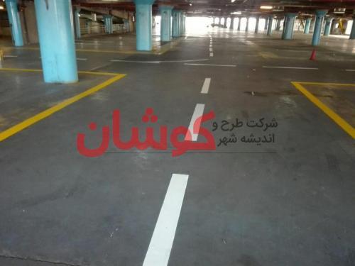 photo ۲۰۱۸ ۰۲ ۲۰ ۱۷ ۳۹ ۱۷ - خط کشی پارکینگ طبقاتی برج میلاد تهران توسط تیم کوشان