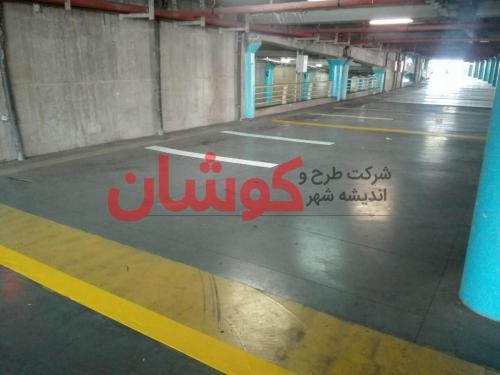 photo ۲۰۱۸ ۰۲ ۲۰ ۱۷ ۳۹ ۲۵ - خط کشی پارکینگ طبقاتی برج میلاد تهران توسط تیم کوشان