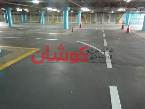 photo ۲۰۱۸ ۰۲ ۲۰ ۱۷ ۳۹ ۳۱ - خط کشی پارکینگ طبقاتی برج میلاد تهران توسط تیم کوشان