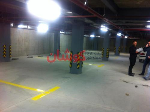 22 4 - خط کشی پارکینگ های بزرگ و کوچک بصورت تخصصی