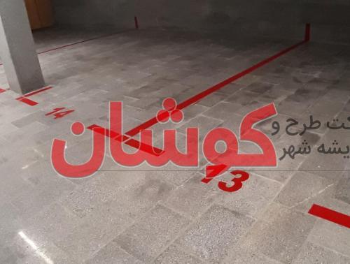 خط کشی محوری معابر اصلی شهر زنجان