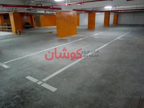 33 4 - خط کشی پارکینگ های بزرگ و کوچک بصورت تخصصی