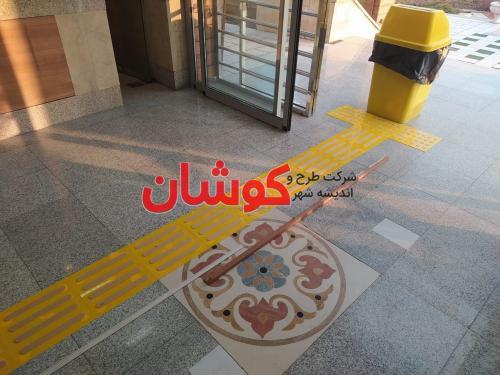 خط کشی پارکینگ ساختمان مسکونی سعادت آباد